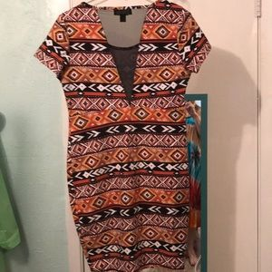 Forever 21 Dress earth colors geometric design